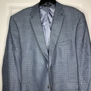 Jos. A. Bank Mens Blazer Size 52R Blue Tattersall